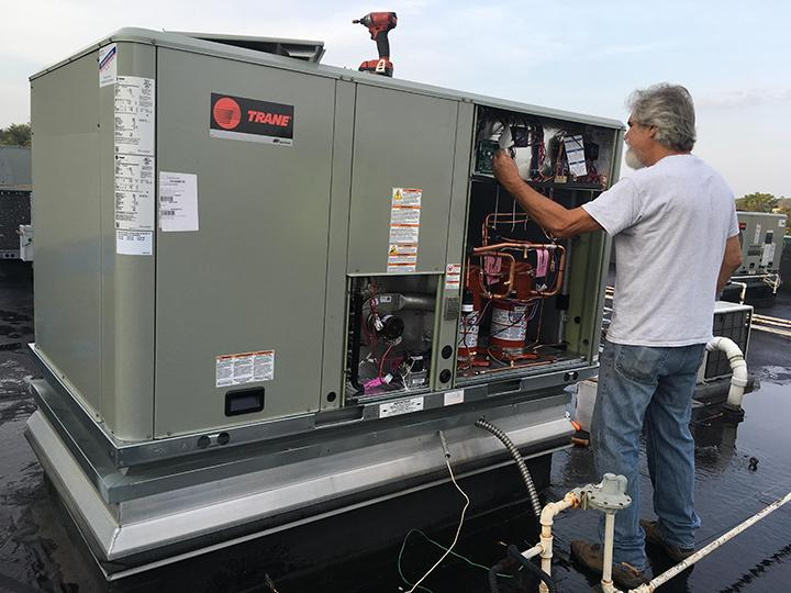 trane commercial hvac technican
