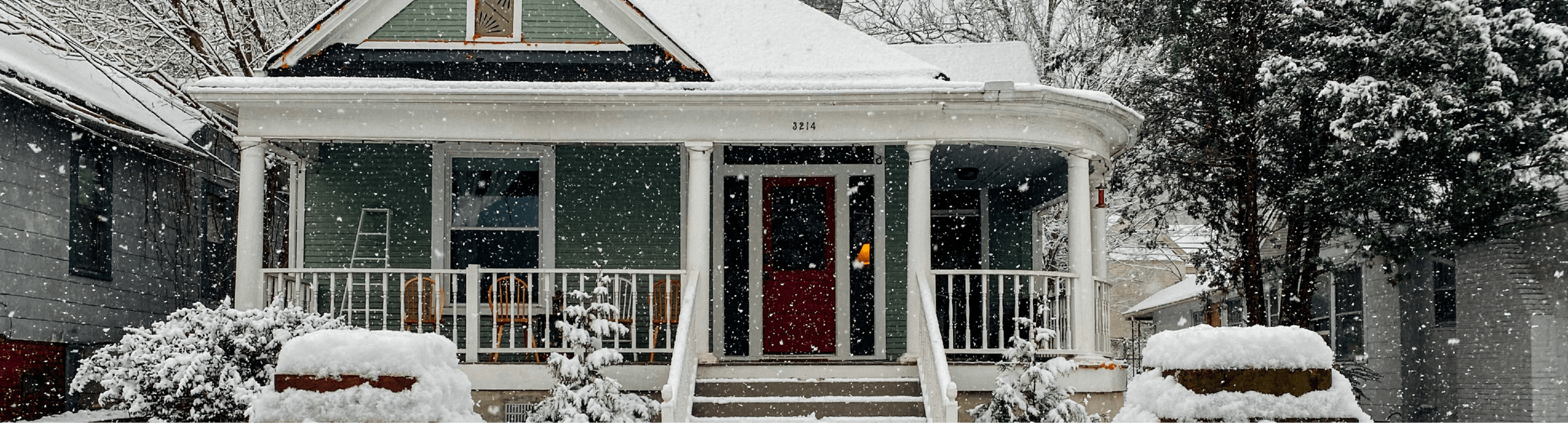 winter home snow